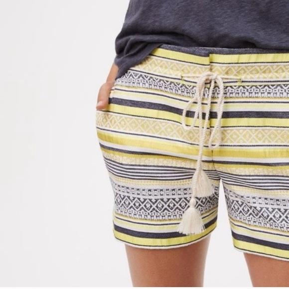 LOFT Pants - Ann Taylor LOFT Riviera shorts in yellow boho